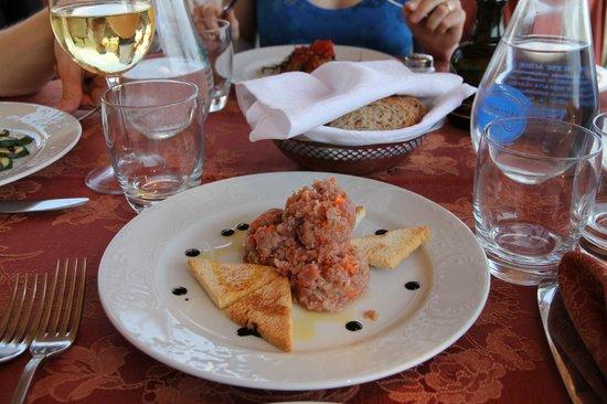 Ristorante Raffaele dell'Hotel Parsifal: antipasto di tonno