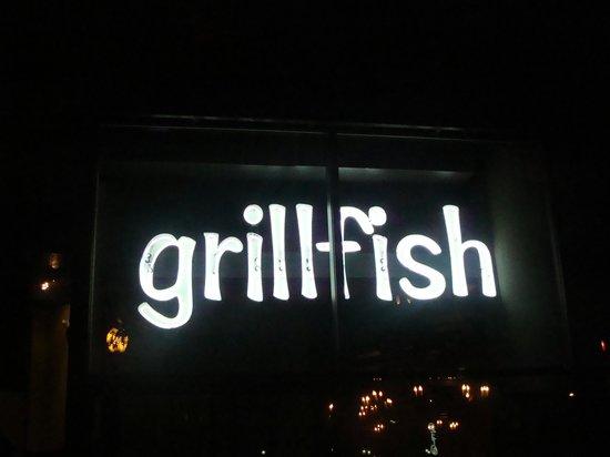 Grillfish : Cartel luminoso