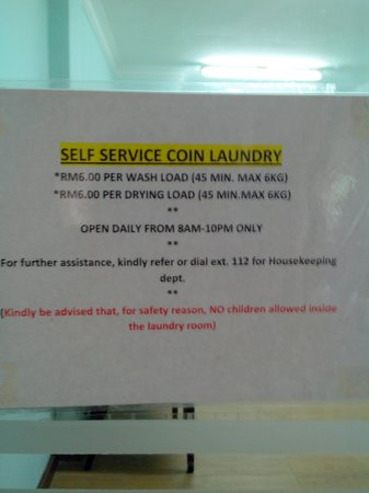 Heritage Hotel Cameron Highlands : Self-service Coin Laundry