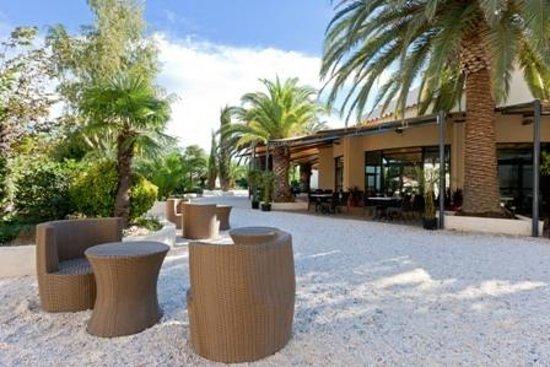 Hotel Spa Las Motas: Vue sur la Terrasse du Restaurant