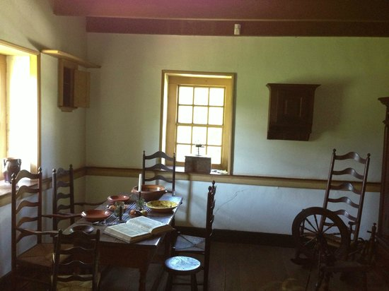 Inside the Daniel Boone Homestead.