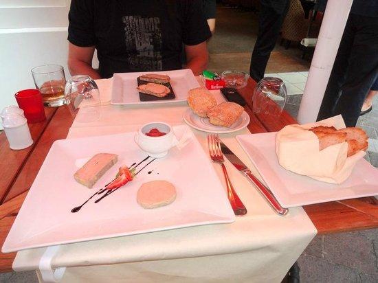 Grand Tonic Hotel Biarritz: foie gras