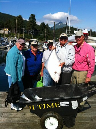 Hi Time Charters: One of the many halibut we caught with HiTime Charters.