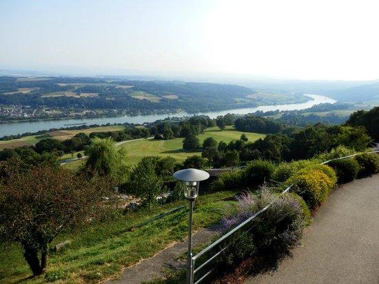 Hotel Schachner - Krone & Kaiserhof: view from the restaurant terrace - right side