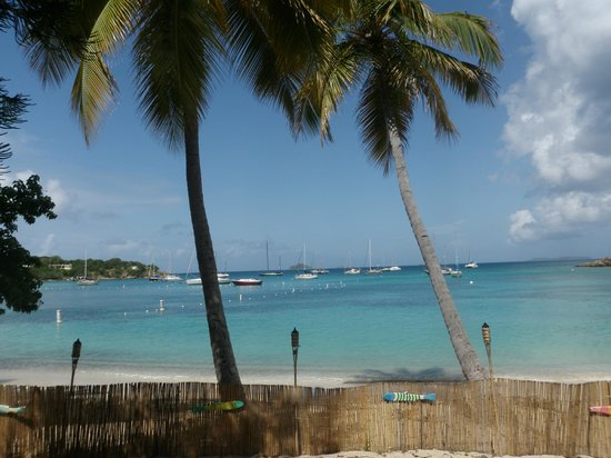 Virgin Islands Campground: The view from Heidi's Honeymoon Grill