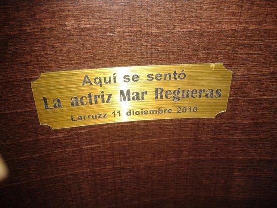 Larruzz Bilbao: en la misma silla que Mar Regueras