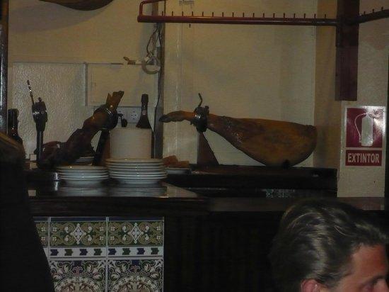 Restaurante La Boveda : jambon!