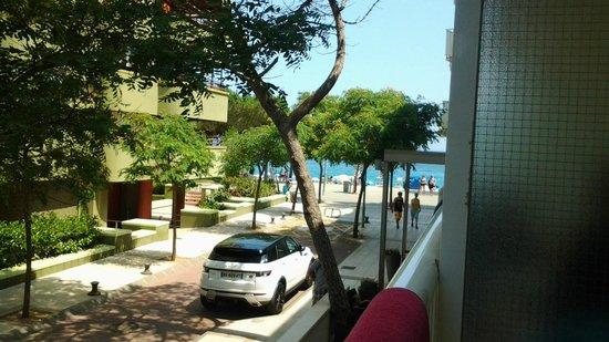 Hotel Planamar: vue coté grand balcon