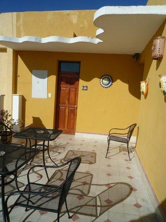 Hotel del Peregrino : jolie terrasse