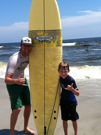 Tony Silvagni Surf School: First surfing lesson!!!