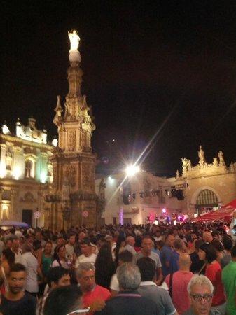Nardo: Piazza di Nardò durante una festa