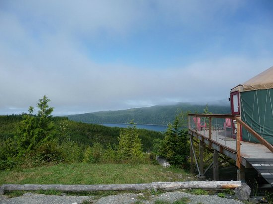 Soule Creek Lodge : Sun burning through the clouds