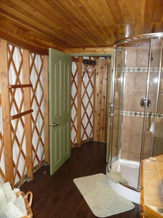 Soule Creek Lodge : Tatoosh bathroom with walk-in shower