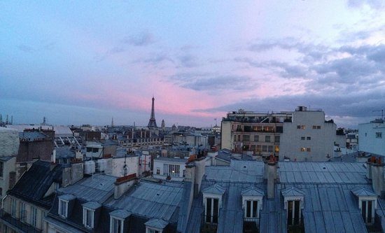 Photo of Paris from the balcony of the top floor room at the Hotel Atala Champs Elysees