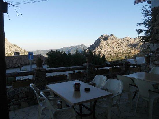 Posada El Parral: Vista desde la terraza del restaurante