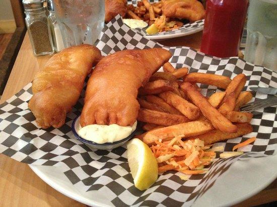 Coastal Kitchen: Fish and Chips: Salmon & Lingcod