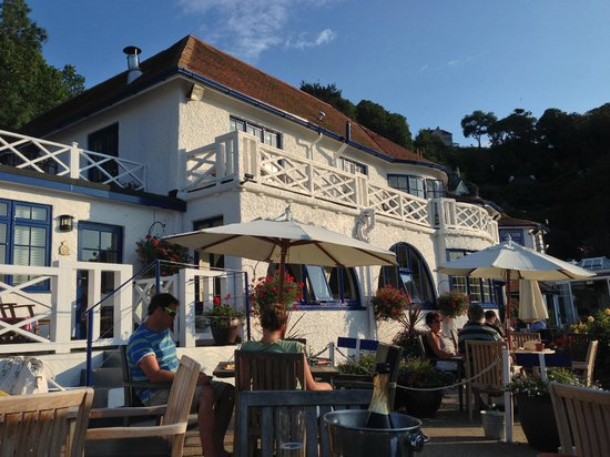 Cary Arms & Spa: Dinner outside