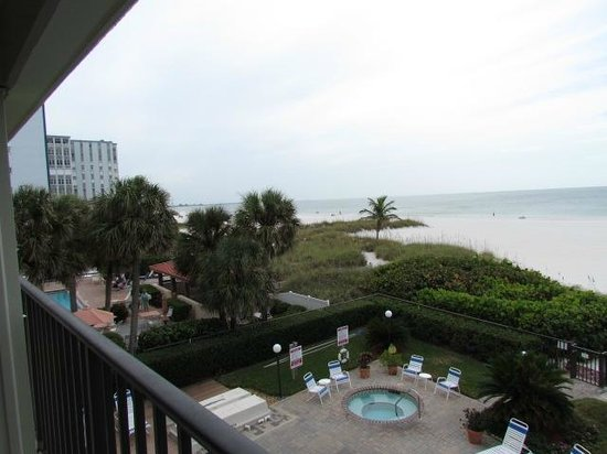 Gulf Beach Resort: View from gulf front balcony.