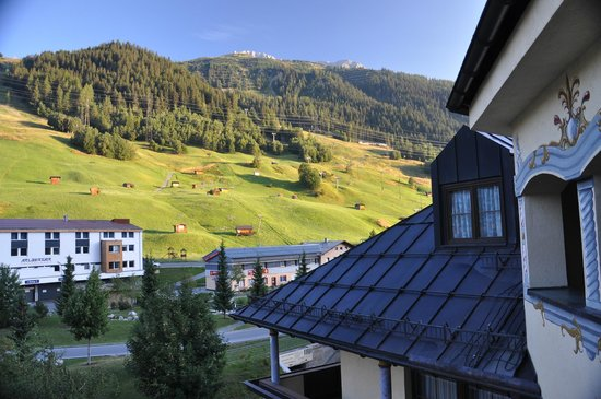 Hotel Alte Post: View from room towards the Bacherspitze