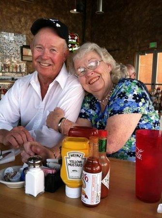 Topock, AZ: breakfast with Mom & Bill at the Marina