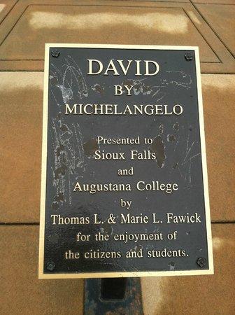 Michelangelo's David replica: The plague