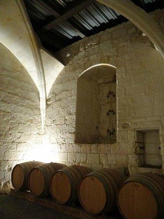Chateau Pimpean: a part of the cellar
