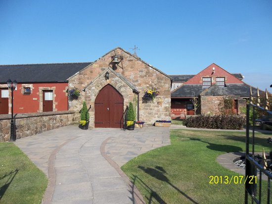 Outside the Chapel at the Mill Forge