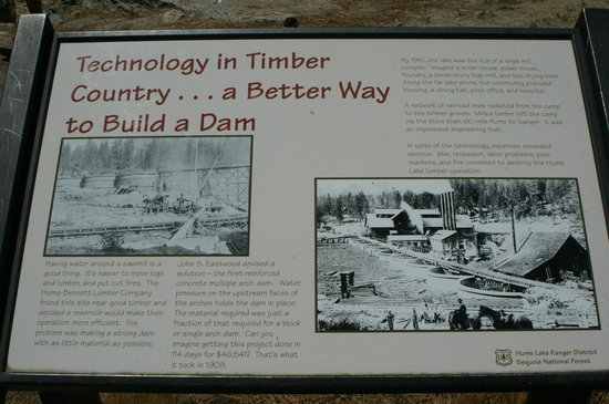 Hume Lake Campgrounds: Little history of Hume Lake