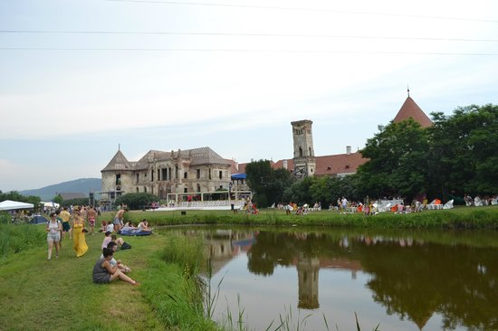 Bontida, Romania: Banffy castle during Electric Castle