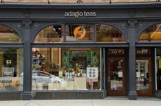 Adagio Teas: Please look for the orange logo