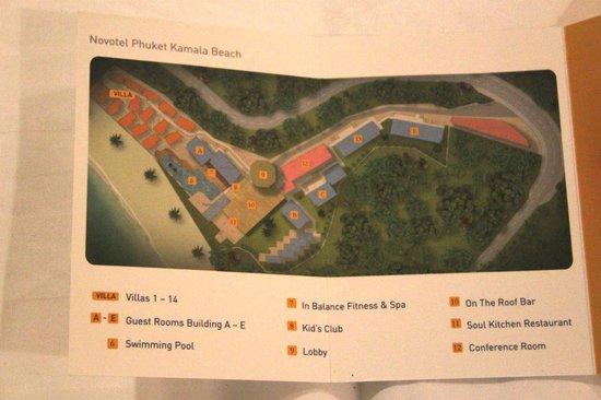 Novotel Phuket Kamala Beach: Resort Map