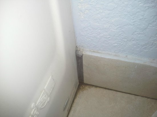 Sportsman Manor Motel : Dirt caked on through out the room, especially in the bathroom.
