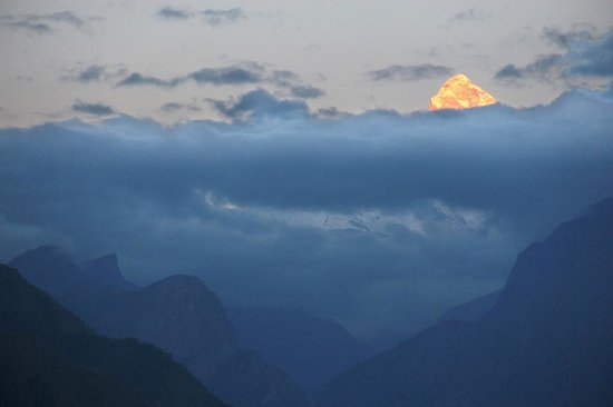 Joshimath, India: Nanda Devi sunset F. Po Egea