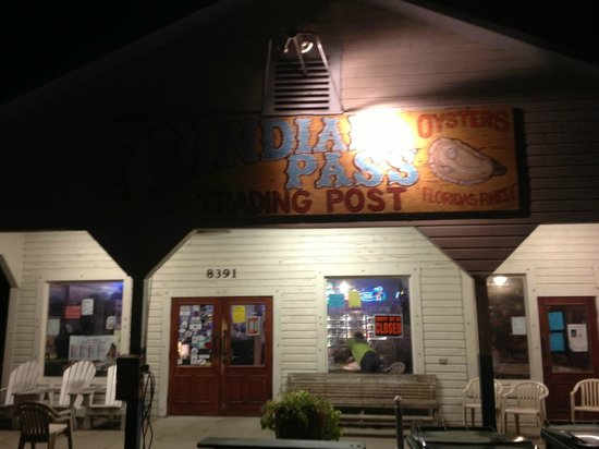 Indian Pass Raw Bar: The front porch after closing