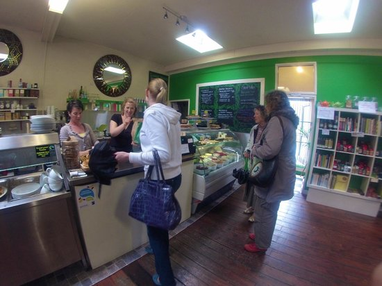 Organico Cafe: once inside order from the deli bar and they make your oder fresh