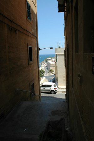 Palazzo Sant Ursula : The street where the sea view apartment is located