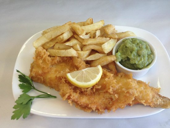 The Cod End Fish & Chip Shop: HADDOCK CHIPS PEAS SPECIAL