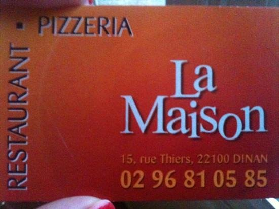 La Maison: business card