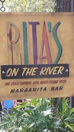 Rita's on the River : Rita, s on the River Sign