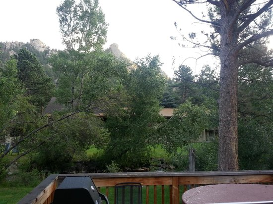 Streamside on Fall River: View from Balcony.
