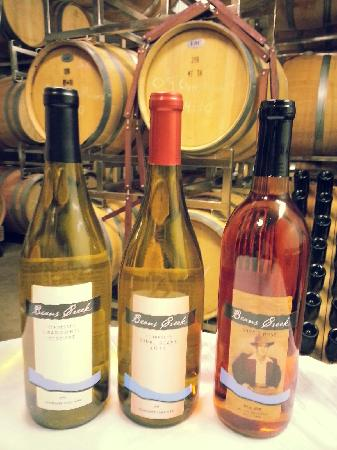 Beans Creek Winery: Chardonel, Vidal and Shof's Rose