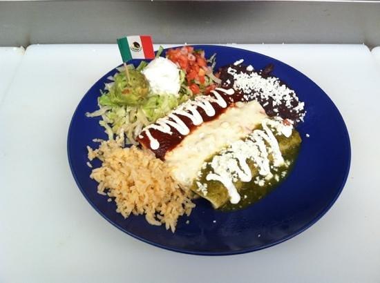 Casa de Luz: Mexican flag enchiladas