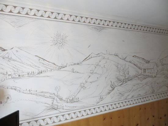 Hotel Arte : part of the mural in our bedroom
