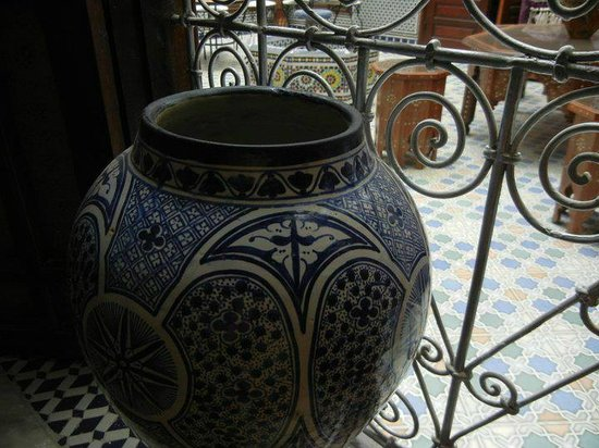 Moroccan artwork at Riad Baba Fès
