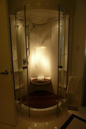 Hotel Le Bonne Entente: We loved the Bain Ultra Temazkal shower in our bathroom