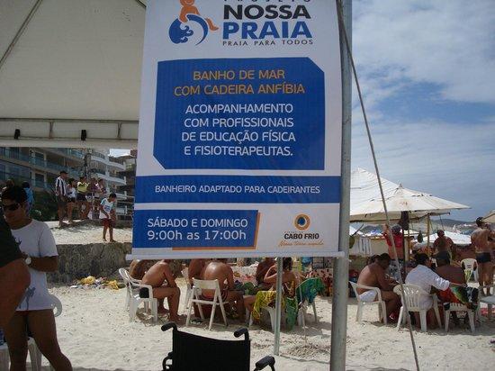 Forte Beach: Acesso para cadeirante