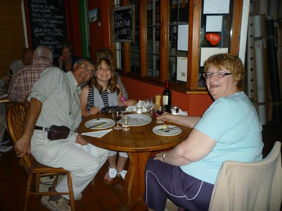 The Wallflower Cafe: Len, Janet & Granddaughter out of the town.