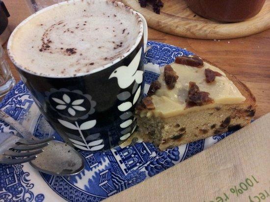 Milgi: coffee and cake £3.95