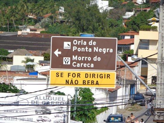 SESC Enseada Praia Hotel: Morro do careca pertinho