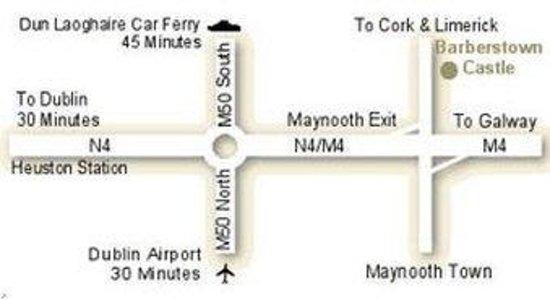 Barberstown Castle: Map